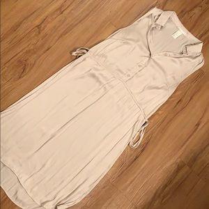 H&M Gold Silk Dress